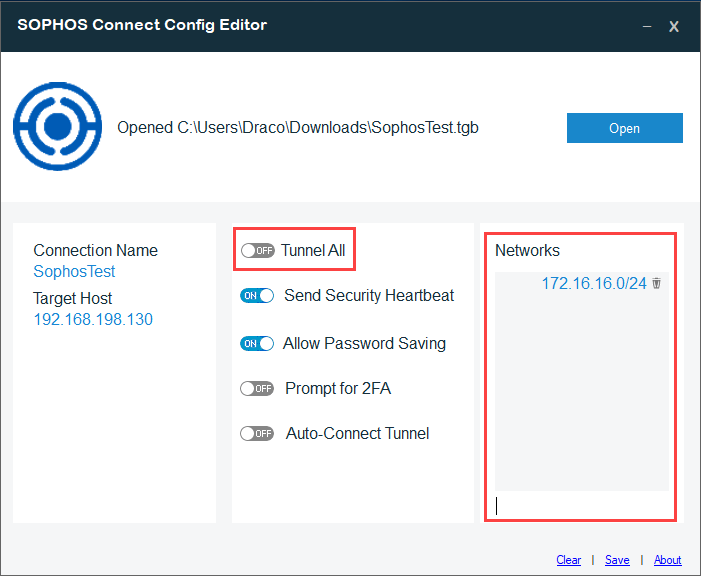 Sophos XG VPN Admin Tool - Split