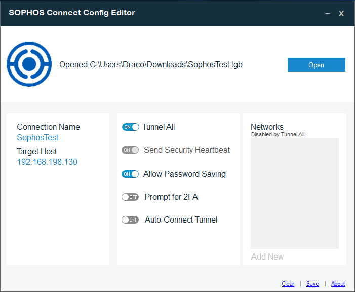 Sophos XG VPN Admin Tool