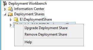 MDT - Upgrade Deployment Share