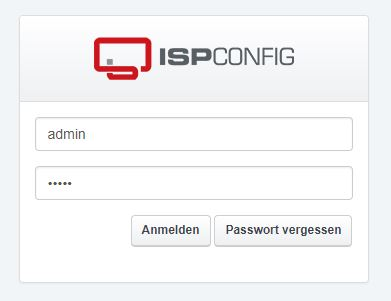 ISPConfig Panel Login