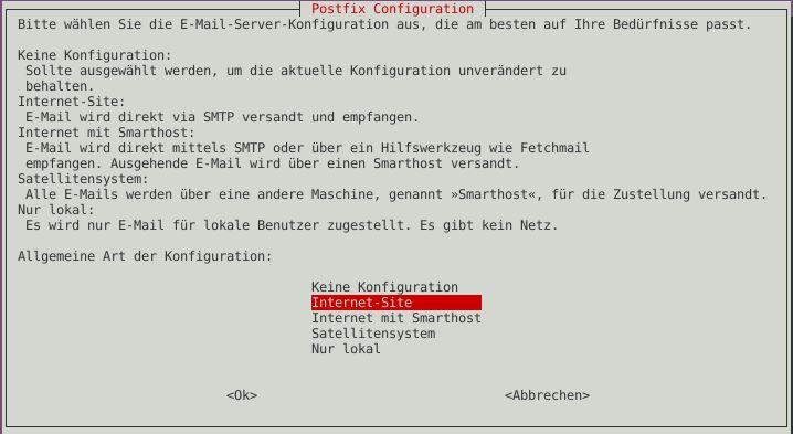 Ubuntu ISPConfig - Postfix Site