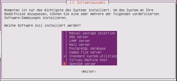 Ubuntu Server Installation - Ubuntu Server Installation - Software