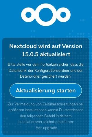 Nextcloud Update 15.0.5