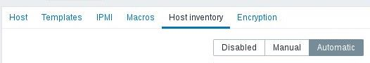 Zabbix Menü Configuration Hosts Inventory
