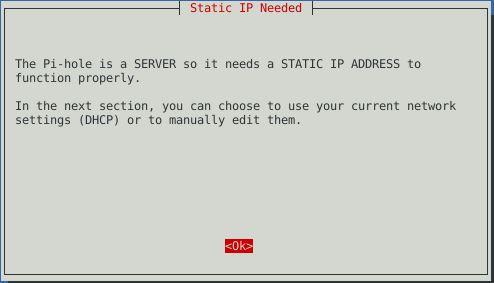 Pi-hole Installer Start