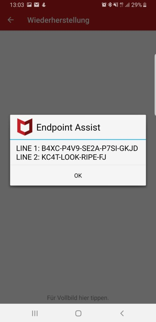 McAfee Endpoint Assistant Resp Code