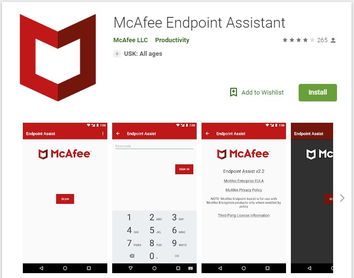 McAfee Endpoint Assistant App
