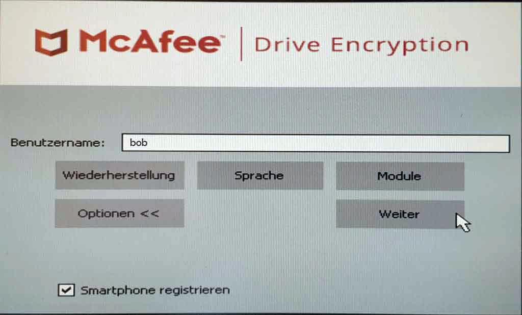 McAfee Preboot - QR-Code 3
