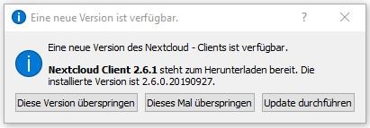 Nextcloud Desktop Client 2.6.1