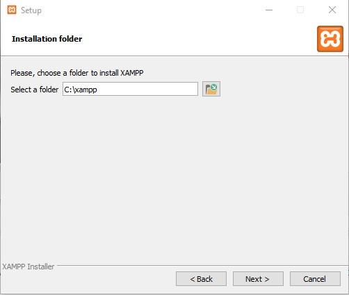 XAMPP Installation Verzeichnis