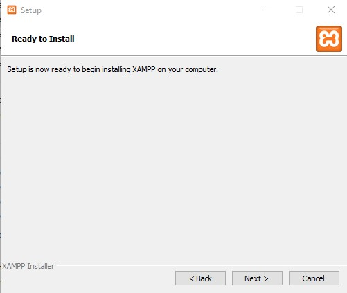 XAMPP Installation Windows