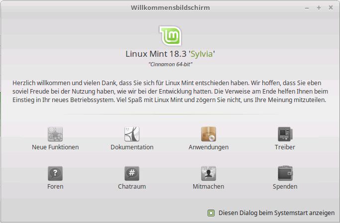 Linux Mint 18.3 Sylvia