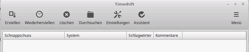 Linux Mint Timeshift