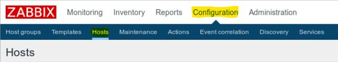 Zabbix Configuration Hosts