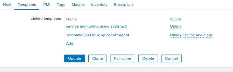 Zabbix Host Update