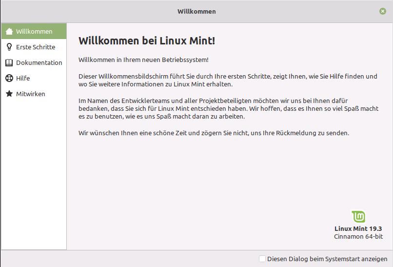 Linux Mint 19.3 Tricia