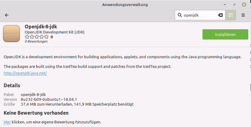 Linux Mint Installation Openjdk-8