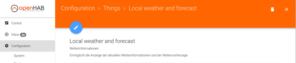 openHAB Weather And Forecast