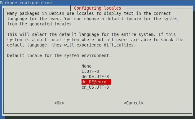Debian Configure Display Locales
