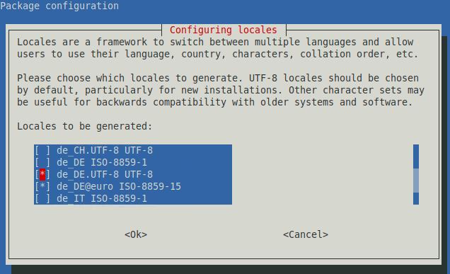 Debian Configure MultiLang Locales