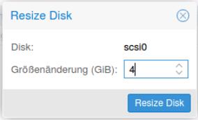 ProxmoxVE Resize Disk