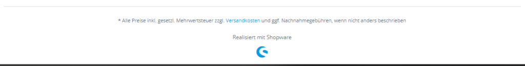 Shopware 5 Footer mit Copyright