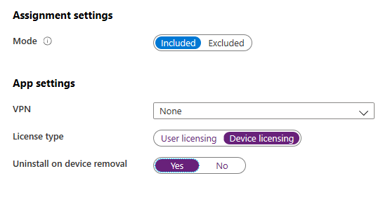 Intune App Assignment LIcensing
