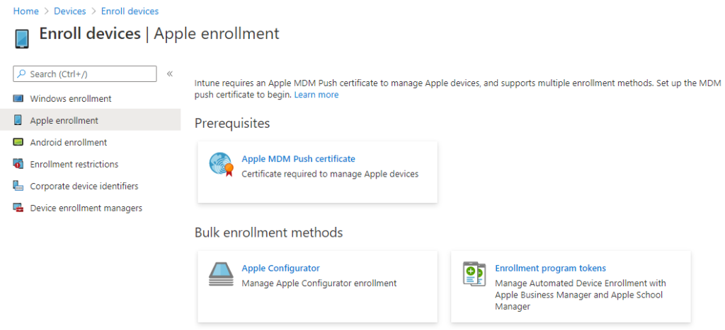 Intune Enroll Devices