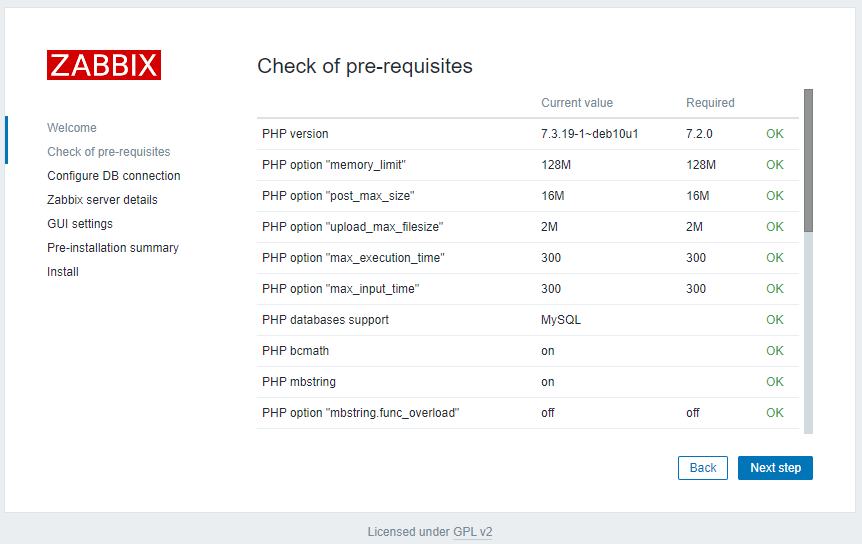 Zabbix 5.2 - Install Pre-Requisites