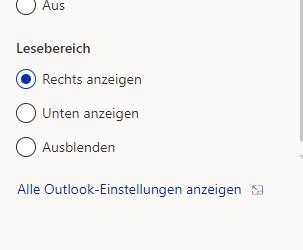 Outlook App OWA - Einstellungen