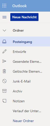Outlook App OWA - Sprache deutsch
