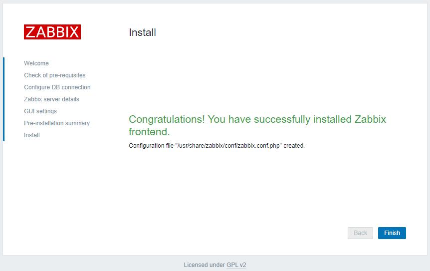 Zabbix 5.2 - Install Success
