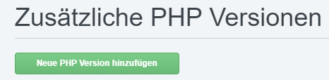 ISPConfig weitere PHP Versionen