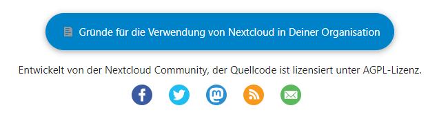 Nextcloud Social and Reason Button