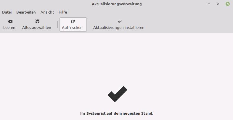 Linux Mint - Aktualisierung