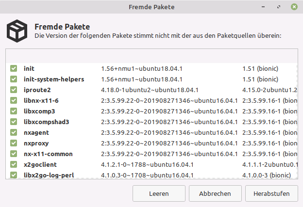 Linux Mint - Fremde Paketquellen