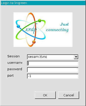 XRDP - Session sesam-Xvnc