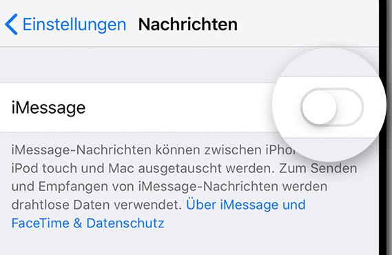 iPhone - iMessage aktivieren