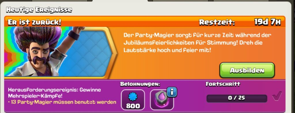 Clash of Clans - Event - Party Magier