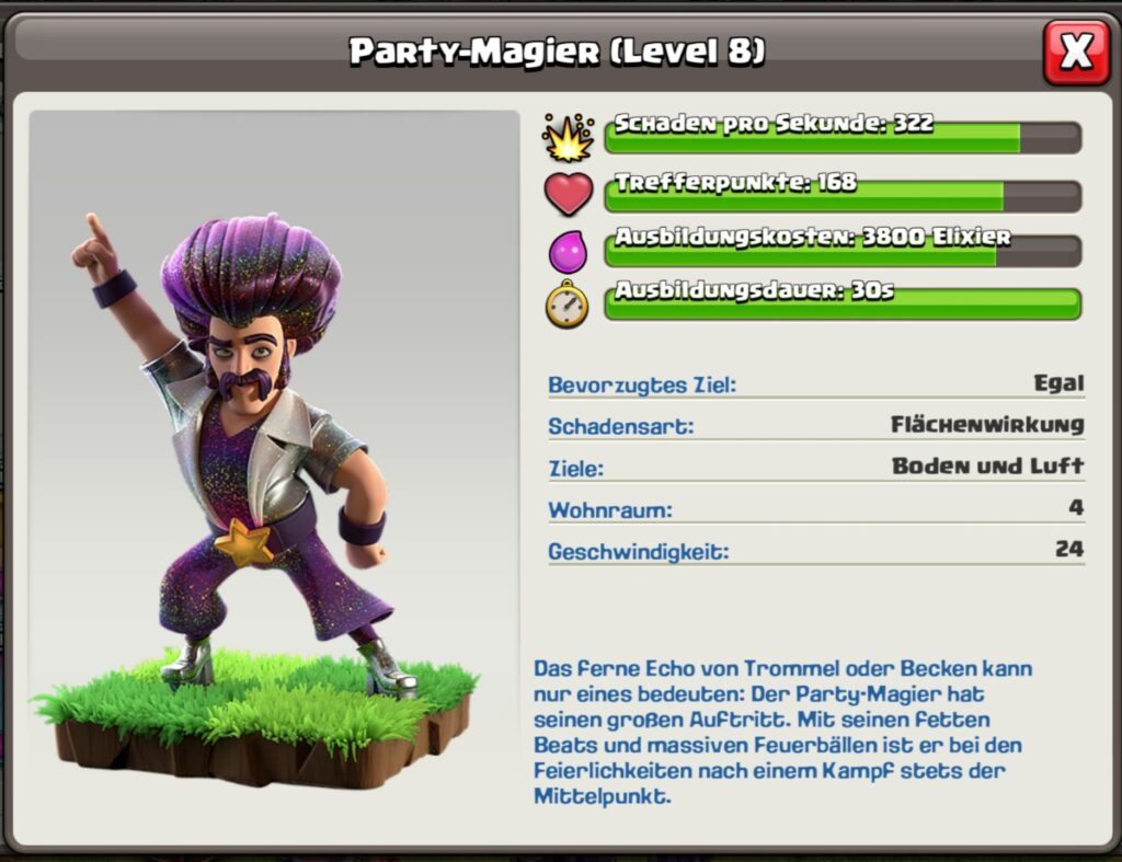 Clash of Clans - Party Magier